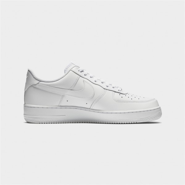 air force 1- 07-AIR FORCE 1- 07 - CUIR - WHITE --nike-Nine