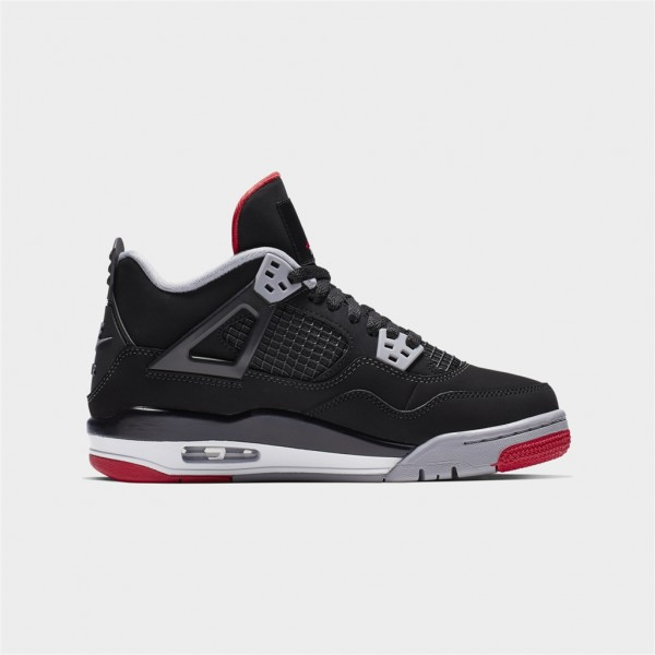 air jordan 4 retro gs-AIR JORDAN 4 RETRO GS - BLACK/FI-jordan-Nine