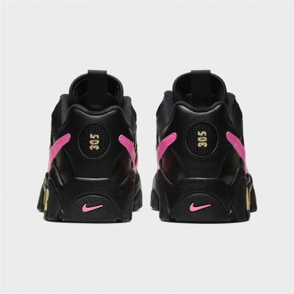 air barrage low qs-AIR BARRAGE LOW QS - BLACK / PIN-nike-Nine