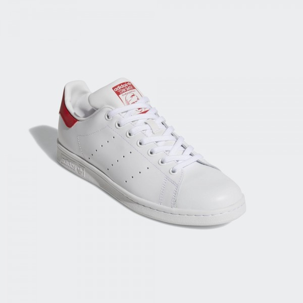 stan smith-STAN SMITH - CUIR - BLANC/ROUGE-adidas-Nine